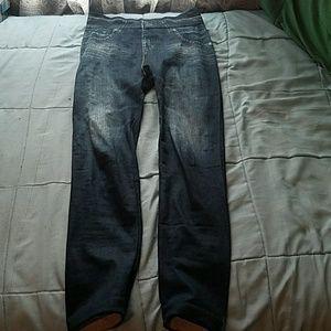 """Fleece """"jean"""" leggings size S/M"""